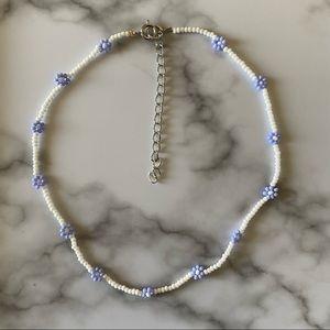 Dainty Lavender Dreams daisy choker necklace